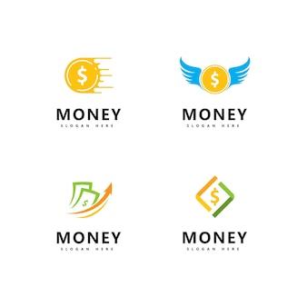 Ilustração do vetor de ícones de dinheiro. ilustração abstrata da moeda do dólar e vetor do ícone