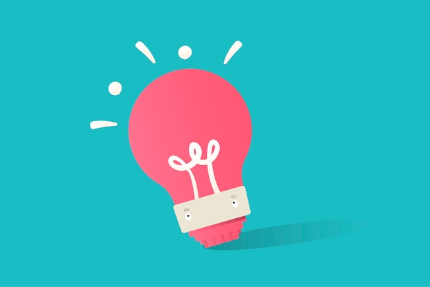 Ilustração do vetor de lâmpada no fundo azul