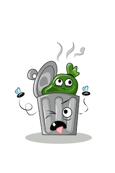 Ilustração do vetor de lata de lixo