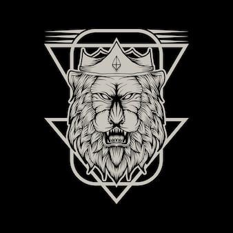 Ilustração do vetor de leão rei
