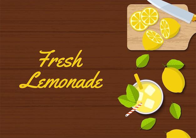Ilustração do vetor de limonada fresca