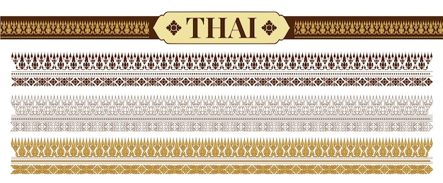 Ilustração do vetor de padrões tradicionais tailandeses