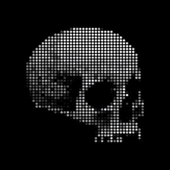 Ilustração do vetor de pontos de esqueleto de crânio