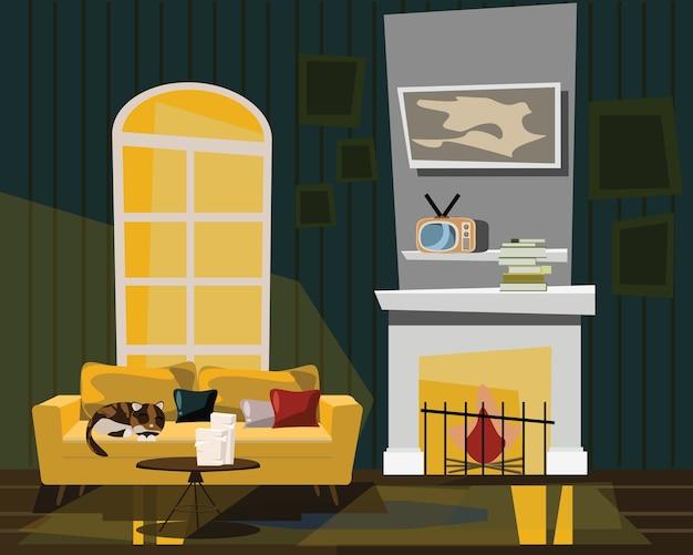 Ilustração do vetor de sala de estar
