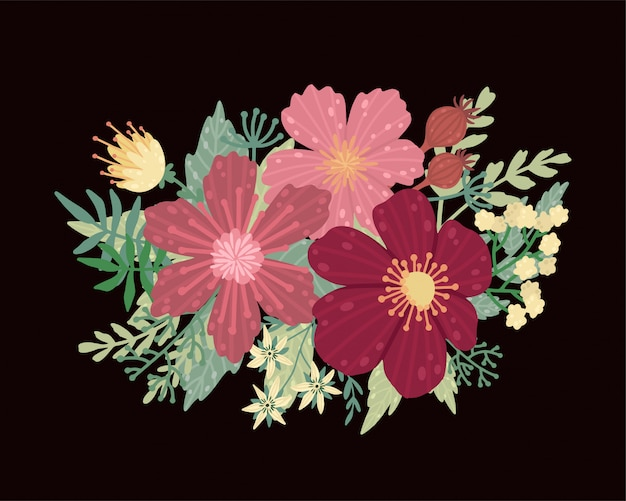 Ilustração do vetor de um ramalhete bonito. o casamento floral
