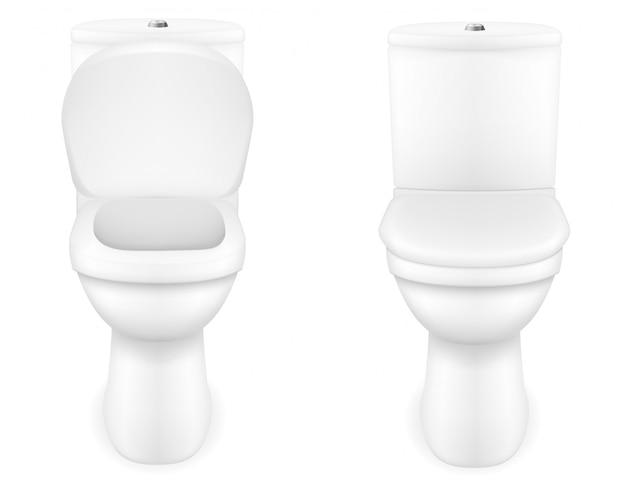 Ilustração do vetor de vaso sanitário