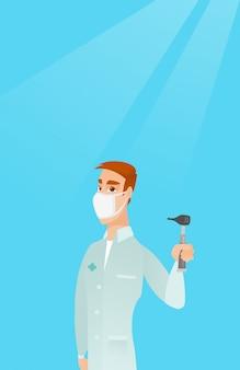 Ilustração do vetor do doutor da garganta do nariz da orelha.