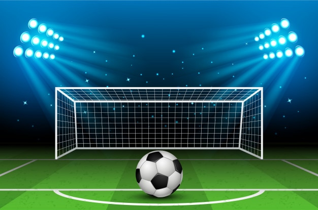 Ilustração do vetor do estádio de futebol. arena de futebol