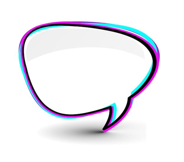 Ilustração do vetor do ícone da janela do messenger isolada no fundo branco