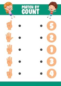 Ilustração do vetor do jogo pelo exercício de contagem