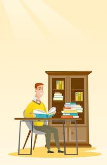 Ilustração do vetor do livro de leitura do estudante.
