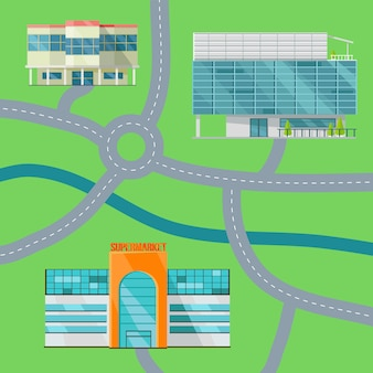 Ilustração do vetor do mapa do conceito do shopping.