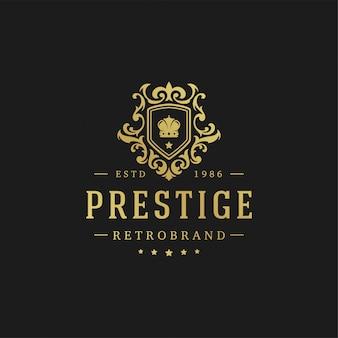 Ilustração do vetor do molde do projeto do logotipo luxuoso.