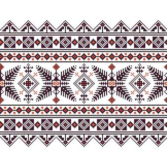 Ilustração do vetor do ornamento padrão padrão ucraniano folk. ornamento étnico. elemento de fronteira. tradicional ucraniana, arte folclórica bielorrussa, padrão de bordado de malha - vyshyvanka