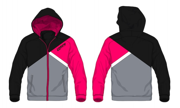 Ilustração do vetor do revestimento do hoodie do esporte.