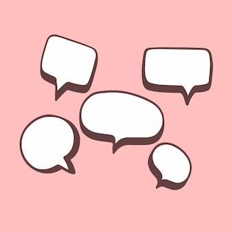 Ilustração do vetor do símbolo de bate-papo da bolha do discurso