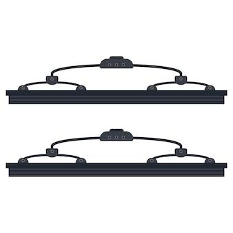 Ilustração do vetor dos limpadores de pára-brisa do carro isolada em um fundo branco.