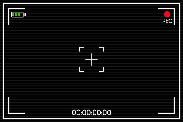 Ilustração do visor de câmera digital