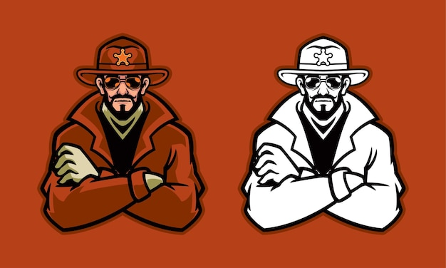 Ilustração do xerife