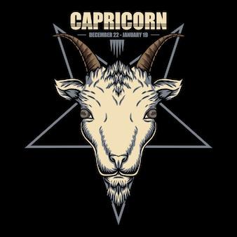 Ilustração do zodíaco de capricórnio