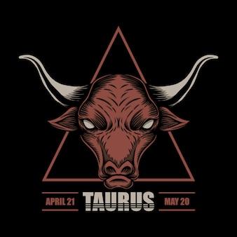 Ilustração do zodíaco touro