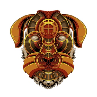 Ilustração dog steampunk
