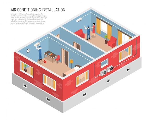 Ilustração doméstica de controle climático