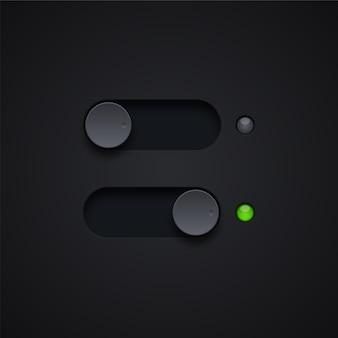 Ilustração dos botões de ligar e desligar
