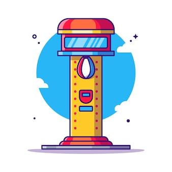 Ilustração dos desenhos animados da arcada do saco de perfuração. parque de diversões ícone conceito branco isolado. estilo flat cartoon