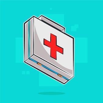 Ilustração dos desenhos animados da caixa médica