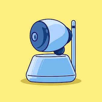 Ilustração dos desenhos animados da câmera web