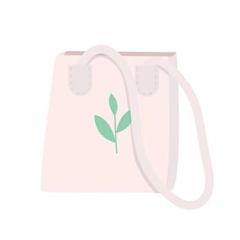 Ilustração dos desenhos animados da sacola ecológica
