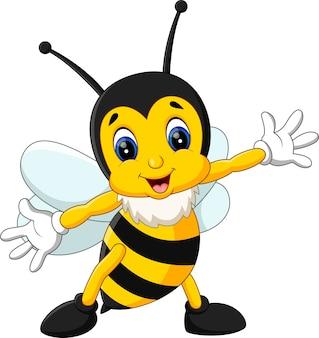 Ilustração dos desenhos animados de abelha bonito
