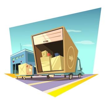 Ilustração dos desenhos animados de armazém