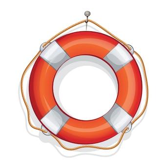 Ilustração dos desenhos animados de bóia salva-vidas