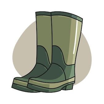 Ilustração dos desenhos animados de bota de jardim