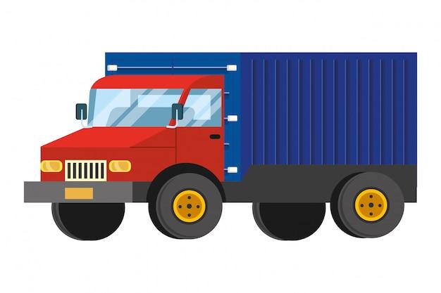 Ilustração dos desenhos animados de caminhão