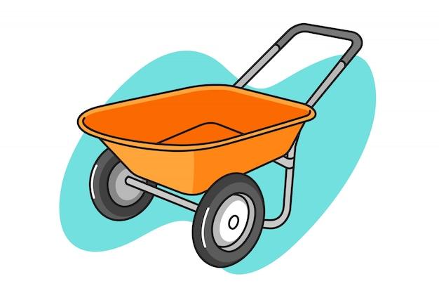 Ilustração dos desenhos animados de carrinho de mão