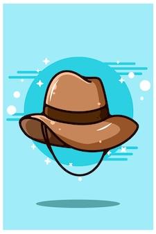 Ilustração dos desenhos animados de chapéu de caubói