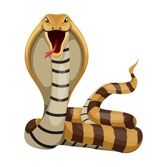 Ilustração dos desenhos animados de cobra