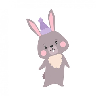 Ilustração dos desenhos animados de coelho
