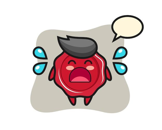 Ilustração dos desenhos animados de lacre com gesto de choro