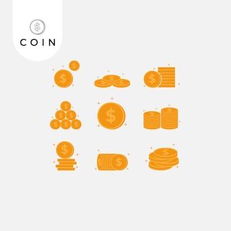 Ilustração dos desenhos animados de moedas