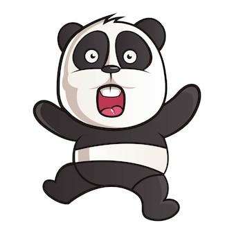 Ilustração dos desenhos animados de panda.