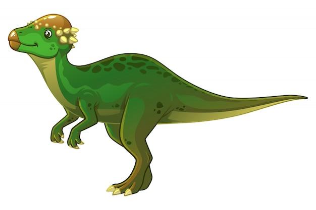 Ilustração dos desenhos animados de paquicefalossauro