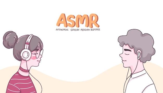 Ilustração dos desenhos animados de personagem de menina e menino.