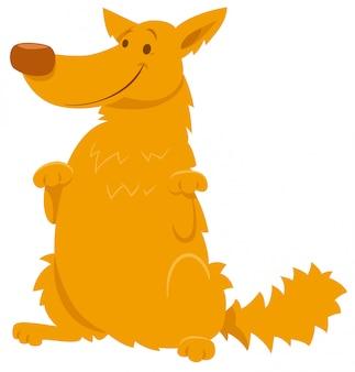 Ilustração dos desenhos animados de personagem shaggy dog amarelo