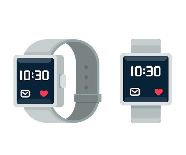 Ilustração dos desenhos animados de smartwatch