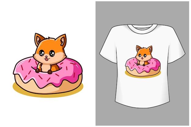 Ilustração dos desenhos animados do bebê fofo raposa