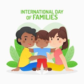 Ilustração dos desenhos animados do dia internacional das famílias Vetor grátis
